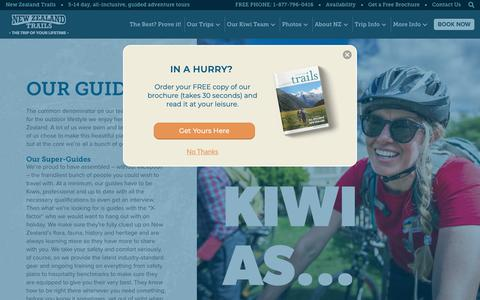 Screenshot of Team Page newzealandtrails.com - Our Guides - New Zealand Trails - captured June 22, 2019