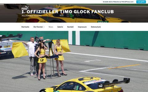 Screenshot of Press Page wordpress.com - News – 1. Offizieller Timo Glock Fanclub - captured Oct. 29, 2018