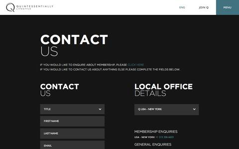 Contact us | Quintessentially Lifestyle