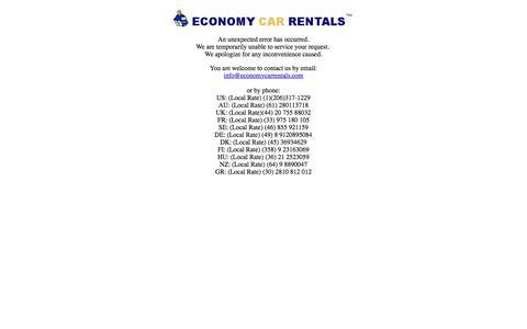 Car Rental - Economy Car Rentals