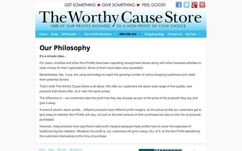 Screenshot of About Page worthycausestore.com - Who We Are - captured Oct. 9, 2014