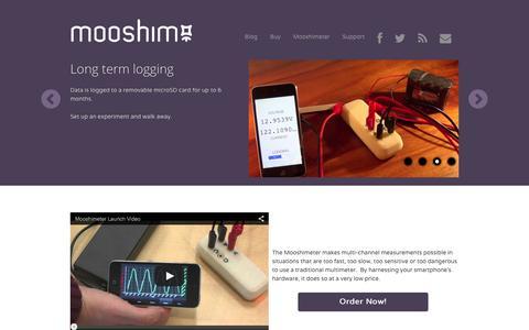 Screenshot of Home Page moosh.im - Mooshim Engineering - captured Feb. 14, 2016