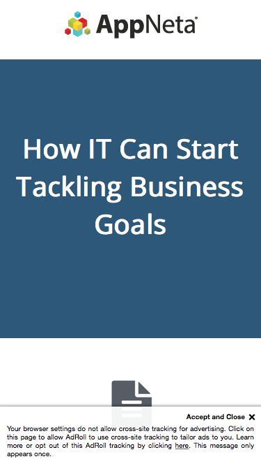 How IT Can Start Tackling Business Goals | AppNeta Whitepaper