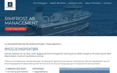 Screenshot of Team Page rimfrostkrill.com - Management - captured Sept. 24, 2018