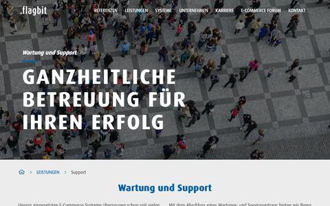 Screenshot of Support Page flagbit.de - E-Commerce Support und Wartung - Flagbit - captured Oct. 10, 2018