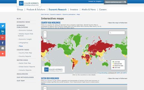 Screenshot of Maps & Directions Page eulerhermes.com - Economic Research maps | Euler Hermes Group - captured Nov. 11, 2016