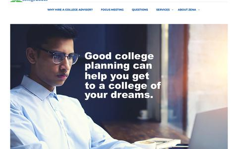 Screenshot of Services Page selecttherightcollege.com - COLLEGE SELECT - College Preparation | College Selection | College Application | College Decision - captured Dec. 21, 2017