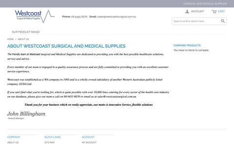 Screenshot of About Page westcoastsurgical.com.au - About Us - captured Jan. 22, 2016