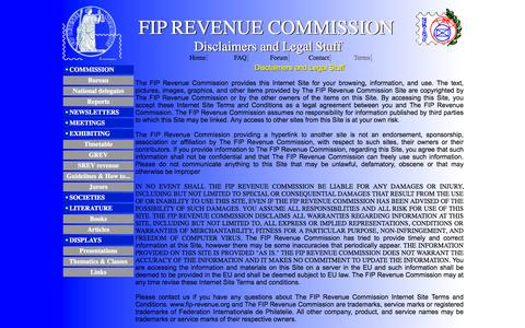 Screenshot of Terms Page fip-revenue.org - FIP REVENUE COMMISSION - Terms - captured June 25, 2016