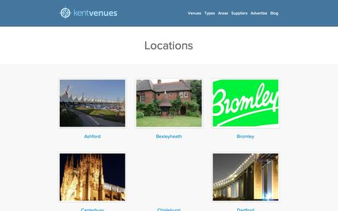 Screenshot of Locations Page kentvenues.co.uk - - Kent Venues | KentVenues.co.uk - captured Oct. 15, 2018