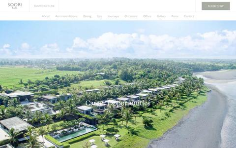 Screenshot of Jobs Page sooribali.com - Careers   Soori Bali - captured Feb. 10, 2017