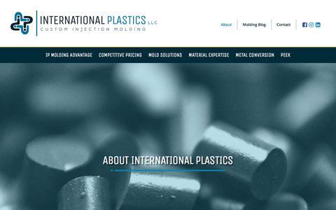 Screenshot of About Page internationalplasticsllc.com - About International Plastics – International Plastics - captured Sept. 19, 2018