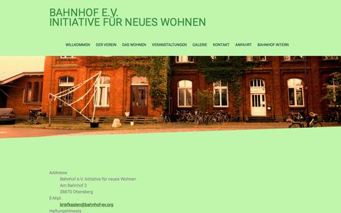 Screenshot of About Page bahnhof-ev.org - Impressum - bahnhof-evs Webseite! - captured April 1, 2017