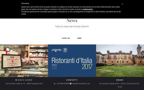 Screenshot of Press Page daminieaffini.com - News - Damini macelleria & affini - captured Nov. 18, 2016