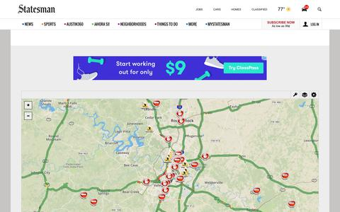 Screenshot of Maps & Directions Page statesman.com - Traffic - captured June 20, 2017