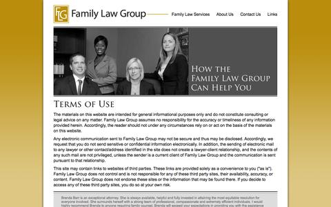 Screenshot of Terms Page familylawgroup.ca - Family Law Group- Terms Of Use - captured Sept. 30, 2014