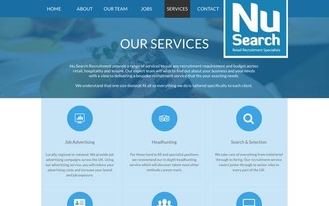 Screenshot of Services Page nusearch.co.uk - Our Services - captured Aug. 14, 2016