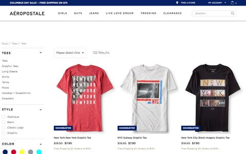 T-Shirts for Teen Boys & Men | Aeropostale