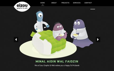 Screenshot of Home Page eizougraphic.com - EIZOU | Jakarta Based Graphic Design & Web Developer - captured Oct. 2, 2014