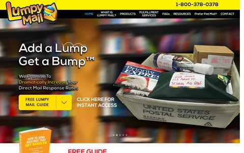 Screenshot of Home Page lumpymail.com - Lumpymail | Add A Lump Get A Bump - captured Nov. 21, 2015