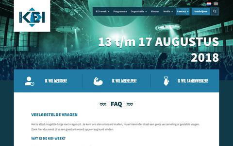 Screenshot of FAQ Page keiweek.nl - FAQ » KEI-week '17 - captured Oct. 25, 2017
