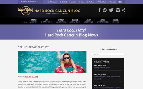 Screenshot of Blog Press Page hrhcancun.com - Hard Rock Cancun Blog Hard Rock Hotel Cancún Blog, attractions, restaurants and Rock and Roll - captured Nov. 18, 2018