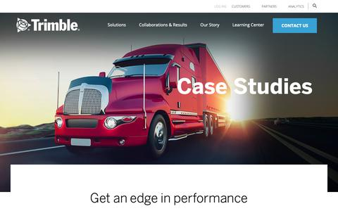 Screenshot of Case Studies Page trimble.com - Case Studies | Trimble - captured May 16, 2019