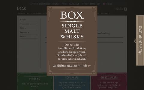 Screenshot of Press Page boxwhisky.se - » Box pressidor - captured Jan. 2, 2017