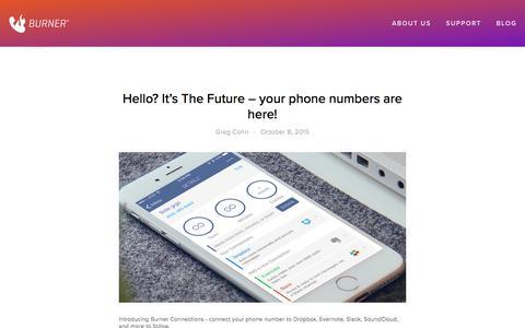 Screenshot of Blog burnerapp.com - Blog — Burner: Free Phone Number, Temporary Disposable Numbers - captured May 21, 2018
