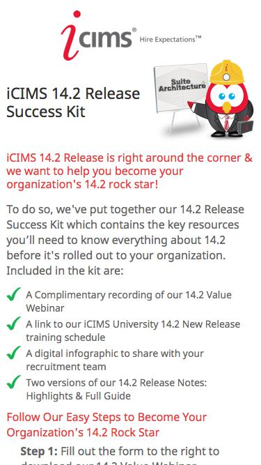 iCIMS 14.2 Release Success Kit