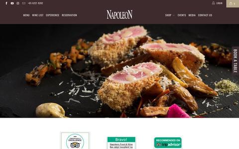 Screenshot of Press Page napoleon.sg - Media - Napoleon Food & Wine Bar - captured Oct. 19, 2018