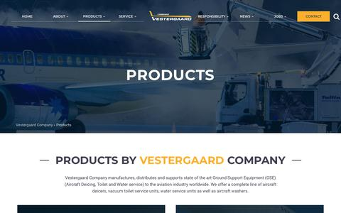Screenshot of Products Page vestergaardcompany.com - Products - Vestergaard Company - captured Oct. 18, 2018