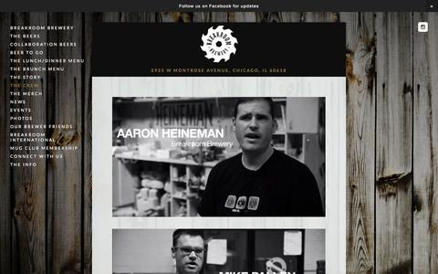 Screenshot of Team Page breakroombrewery.com - The Crew — BreakRoom Brewery - captured Sept. 30, 2014