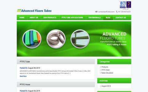 Screenshot of Blog aftubes.com - Advanced Fluoro Tubes » Blog - captured Nov. 2, 2014