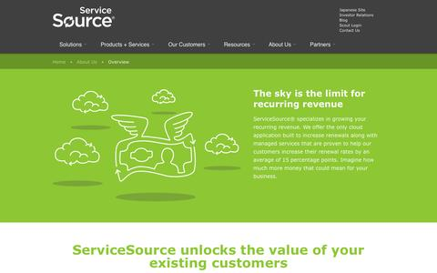 Screenshot of About Page servicesource.com - Overview | ServiceSource - captured Oct. 28, 2014