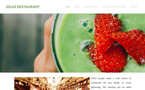 Screenshot of Home Page jolasrestaurant.com - JOLAS RESTAURANT - Home - captured Sept. 20, 2018