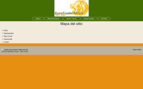 Screenshot of Site Map Page eurotraderafrica.com - Gou Print Produccion Grafica - captured July 8, 2016