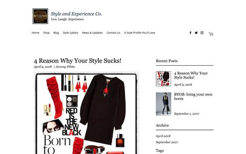 Screenshot of Blog styleandexperienceco.com - Blog | Style and Experience Co. - captured March 9, 2019