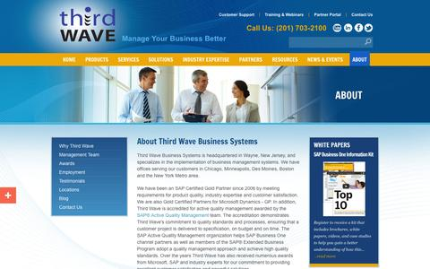Screenshot of About Page twbs.com - About Third Wave Business Systems - captured Oct. 10, 2014