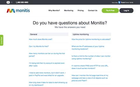 Frequently Asked Questions – Monitis
