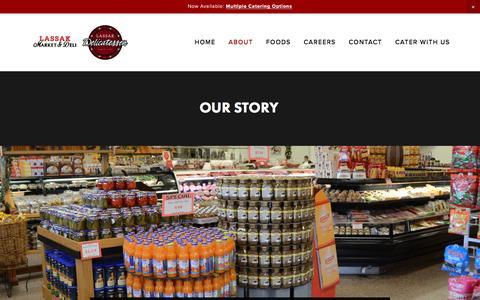 Screenshot of About Page lassakdeli.com - About | Lassak Market & Deli | European Deli Items | Polish Smoked Meats - captured Jan. 24, 2017