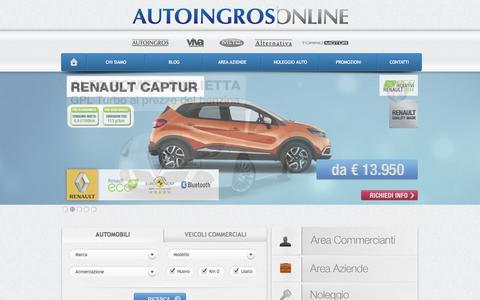 Screenshot of Home Page autoingros.it - Autoingros: Autovetture e Veicoli Commerciali Nuovi, Km0, Aziendali e Usati - captured Sept. 24, 2014