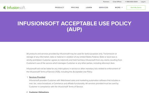 Infusionsoft Acceptable Use Policy