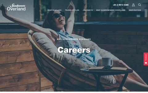 Screenshot of Jobs Page sundownersoverland.com - Careers   Sundowners Overland - captured Sept. 21, 2018