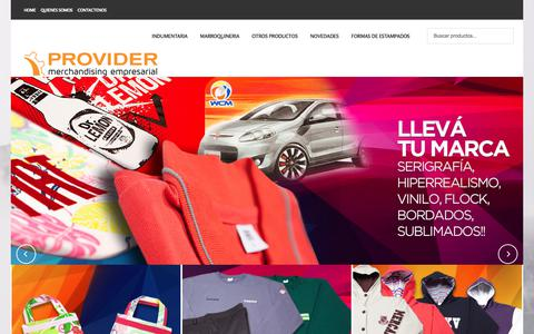 Screenshot of Home Page provider-arg.com.ar - Provider - Merchandising empresarial - captured Sept. 25, 2018