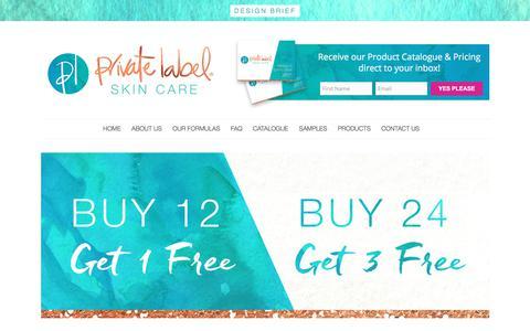 Screenshot of FAQ Page privatelabelskincare.com.au - FAQ - Private Label Skincare - captured July 8, 2017