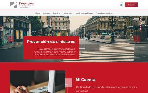 Screenshot of Home Page proteccionmutual.com - Protección - captured Dec. 16, 2018