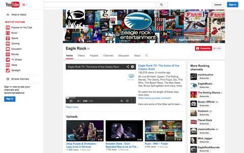 Screenshot of YouTube Page youtube.com - Eagle Rock  - YouTube - captured Oct. 22, 2014