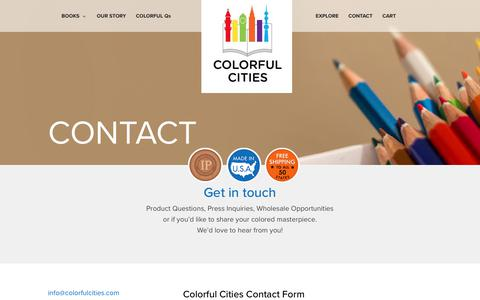 Screenshot of Contact Page colorfulcities.com - Contact - Colorful Cities - captured Aug. 17, 2017