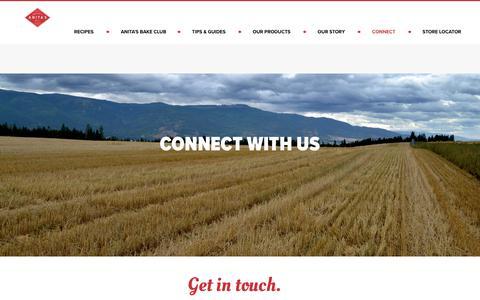 Screenshot of Contact Page anitasorganic.com - Contact Us | Anita's Organic - captured Oct. 3, 2018